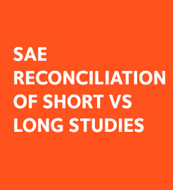 sae reconciliation for long and short studies